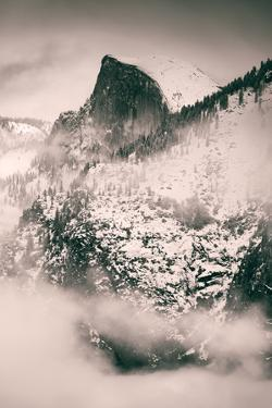 Fog Framed Half Dome and Yosemite Valley, National Parks, California by Vincent James
