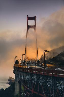 Fog Light Mood Afternoon, North Tower - Golden Gate Bridge - San Francisco by Vincent James