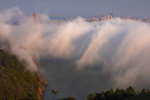 Fog Wave Attack  Golden Gate Bridge San Francisco by Vincent James