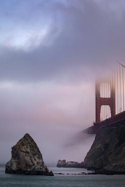 Fog Waves, North Fort Baker View, Golden Gate Bridge San Francisco by Vincent James