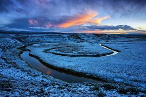 Frosty Landscape and Warm Clouds, Hayden Valley, Yellowstone by Vincent James