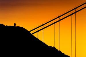 Golden Detail, Sunrise Light at Golden Gate Bridge, San Francisco by Vincent James
