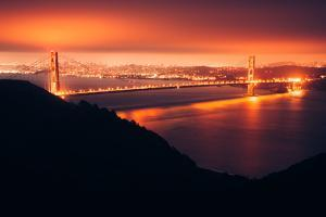 Golden Gate Bridge Glow, Early Morning Hours San Francisco by Vincent James