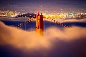 Golden Gate Tower and Low Fog and San Francisco, California by Vincent James