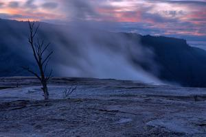 Hot Springs Sunset, Mammoth Hot Springs, Yellowstone, Wyoming by Vincent James