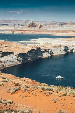 Houseboat at Lake Powell, Page Arizona by Vincent James
