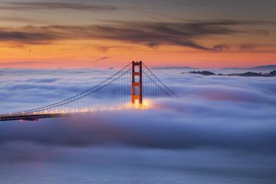 Isolation Wave - Golden Gate Bridge, Epic Morning Fog - San Francisco