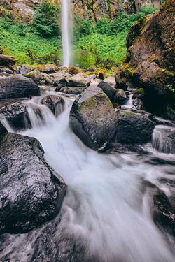 Latourell Falls Detail, Columbia River Gorge, Oregon by Vincent James