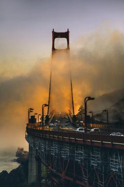 Light Fog Mood Afternoon, North Tower - Golden Gate Bridge - San Francisco by Vincent James