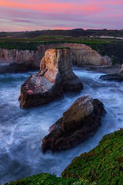 Magic Sunset at Davenport Cove, California Coast by Vincent James