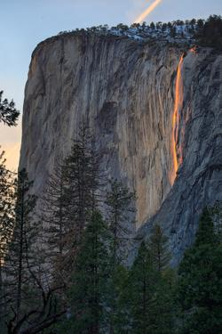 Magical Fire Falling, Horsetail Falls at Firefall, Yosemite National Park by Vincent James