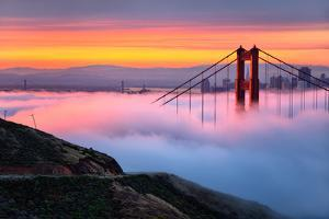Magical First Light and Fog at Golden Gate Bridge, San Francisco by Vincent James