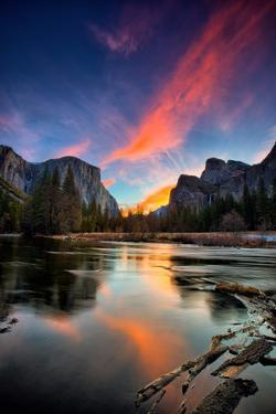 Magical Sunrise at Valley View, Yosemite National Park by Vincent James