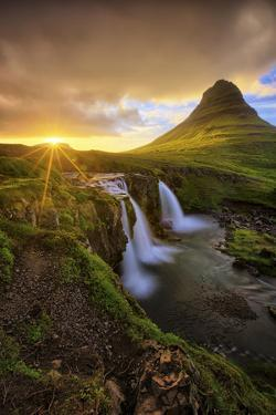 Majestic Midnight Sun at Kirkjufell, Iceland by Vincent James