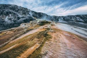 Mammoth Hot Springs Landscape Abstract, Yellowstone National Park by Vincent James