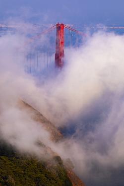 Misty Golden Gate Bridge - Fog Zone - San Francisco by Vincent James