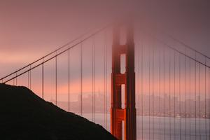 Misty Golden Gate Tower, San Francisco California by Vincent James