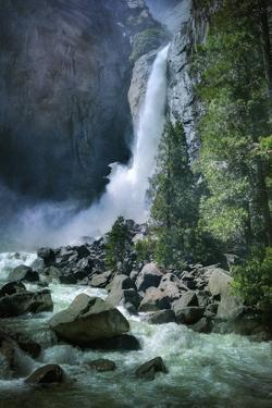 Misty Lower Yosemite Falls, California by Vincent James