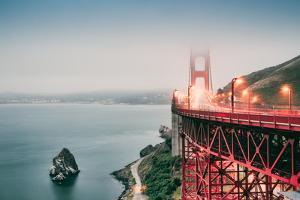 Misty Morning Crossing the Golden Gate Bridge, San Francisco, California by Vincent James