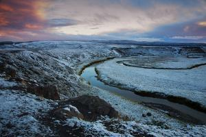 Mood and Frost Landscape, Hayden Valley, Yellowstone National Parl by Vincent James