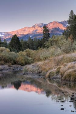 Morning Hills at Carson River, Sierra Nevada by Vincent James