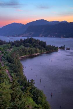 Morning Hills at Columbia River Gorge, Oregon by Vincent James