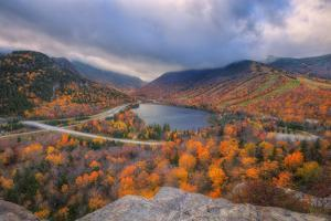 Morning Storm at Echo Lake, New Hampshire by Vincent James