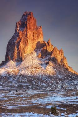 Mount Agathla and Snow Dust, Arizona by Vincent James