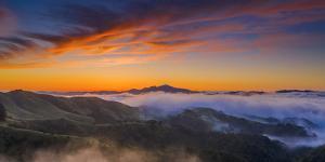 Mount Diablo Rising - Classic Epic Sunrise, Mount Diablo San Francisco East Bay by Vincent James