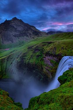 Mystery and Mood at Skógafoss, Waterfall Iceland by Vincent James