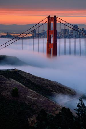 Paradise Sunrise and Fog, Golden Gate Bridge, San Francisco by Vincent James