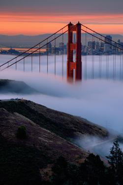 Paradise Sunrise and Fog, Golden Gate Bridge, San Francisco by Vincent James