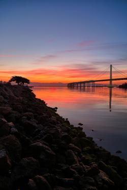 Peaceful Sunrise, East Span of the Bay Bridge, San Francisco, California by Vincent James
