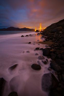 Pre Dawn Beachscape at Golden Gate Bridge, San Francisco by Vincent James