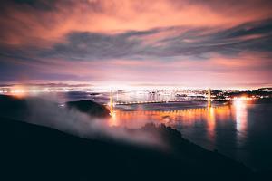 Pre Dawn Night Storm, Golden Gate Bridge, San Francisco, Marin Headlands by Vincent James