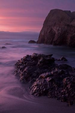 Purple Mood and Mist Sunset by Vincent James