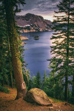 Rim Shot with Phantom Ship, Crater Lake National Park, Oregon by Vincent James