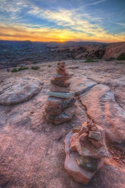 Scene from a Sunset Hike, Southern Utah by Vincent James