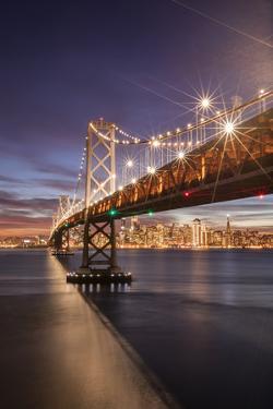 SF Bay Holiday Lights - Bay Bridge Night Photography - San Francisco by Vincent James
