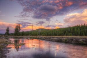 Sky Magic at Sunset in Yellowstone National Park by Vincent James