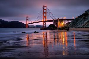 Smokey Golden Gate from Marshall Beach, Morning Light, San Francisco by Vincent James