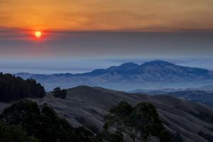 Smoky Burn - Classic Epic Sunrise Mount Diablo San Francisco East Bay by Vincent James
