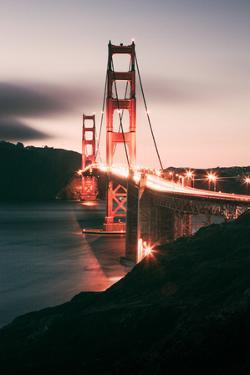 South Side View Golden Gate at Night, San Francisco by Vincent James