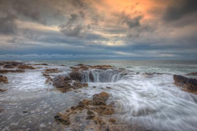 Standing at Thor's Well, Oregon Coast by Vincent James