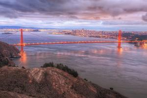 Storm Coming In Over Golden Gate Bridge by Vincent James