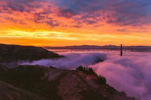 Stunning Epic Sunrise at Golden Gate Bridge, San Francisco by Vincent James