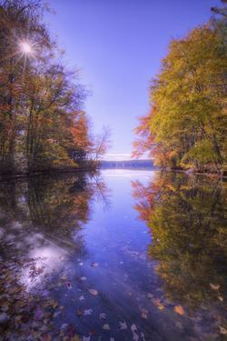 Sun Star and Autumn Reflections, New Hampshire by Vincent James