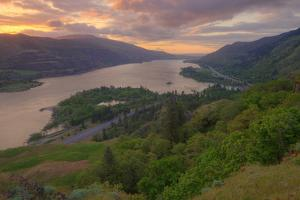 Sunrise at Columbia River Gorge by Vincent James