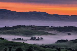 Sunrise Fire over Petaluma Hills, Sonoma County, Bay Area by Vincent James
