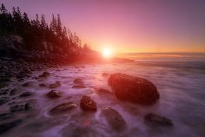 Sunrise Light and The Atlantic Coast, Maine by Vincent James